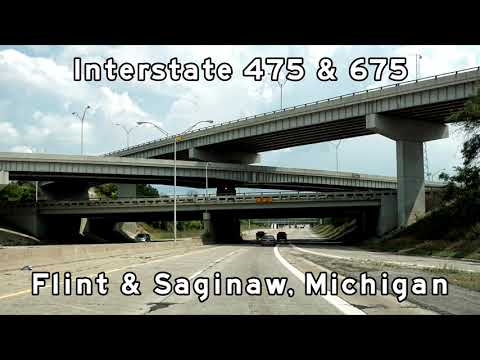 Flint and Saginaw Freeway Tours - I-475, and I-675, Michigan - 2018/08/14