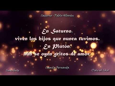 Saturno - Pablo Alborán (Con letra - canción original)