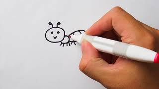 HOW TO DRAW Ant for kids : Step by step easy drawing tutorial
