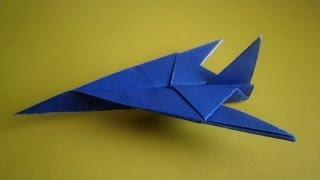 оригами самолет истребитель,как сделать из бумаги самолет, how to make origami plane