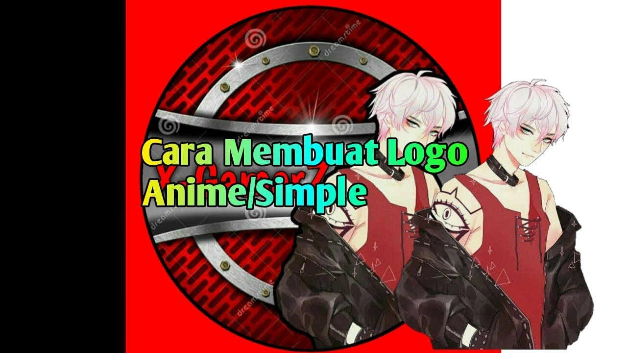 Cara membuat logo anime simple apk pixelab