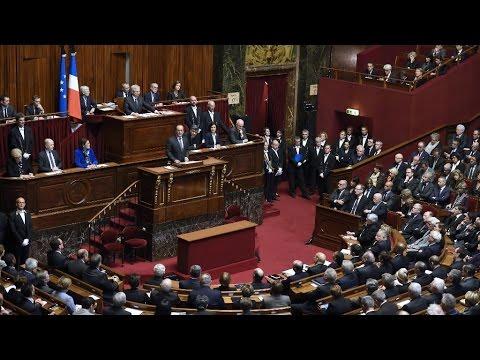 REPLAY - Discours de François Hollande devant le Congrès à Versailles après les attentats de Paris