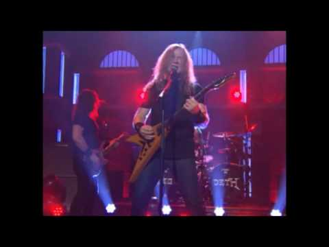 Megadeth performed on Late Night with Seth Meyers