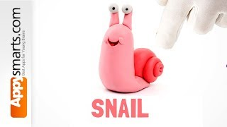 Clay for Kids  - how to make a Snail from Hey Clay Bugs crafts app