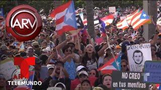 Manifestación violenta en Puerto Rico pide renuncia del Gobernador Ricardo Roselló | Telemundo