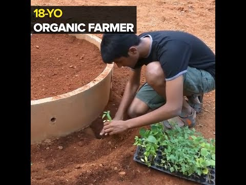 This student is making people Organic Farmers.
