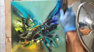 Démonstration peinture abstrait - Lilian Fournier #12