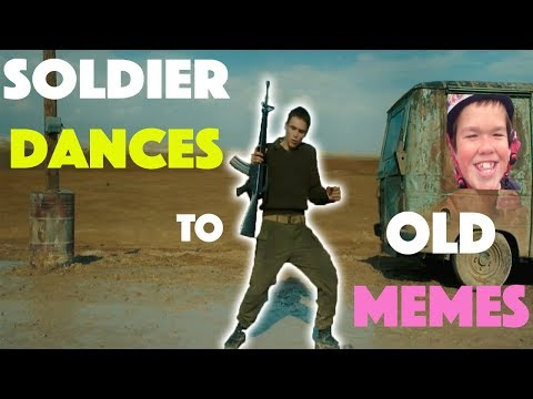 Soldier Dances To Old Memes While On Duty