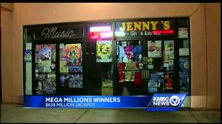 2 winning tickets sold in Mega Millions drawing