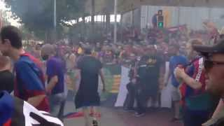 Incredible  Boixos Nois Fight in the final cup Spain 06.2015