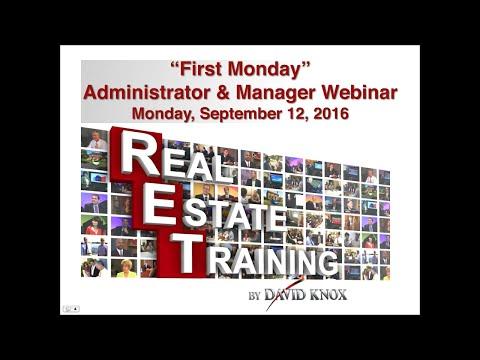 RET Administrator First Monday Webinar for September 2016