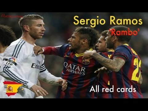 Sergio Ramos All Red Cards In His Football Career