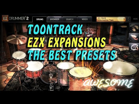 Toontrack EZX Expansions, The Best Toontrack EZX Presets, Toontrack EZX : Demos In HD, Red Button :)