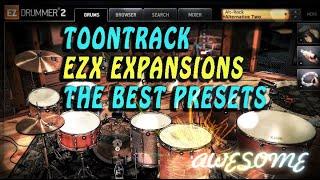 Toontrack EZX expansions, the best Toontrack EZX presets, Toontrack EZX : demos in HD, red button :)