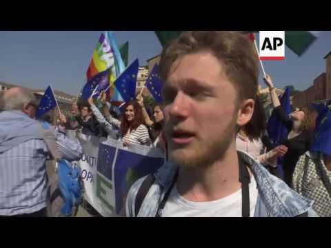Pro-European Union march in Rome
