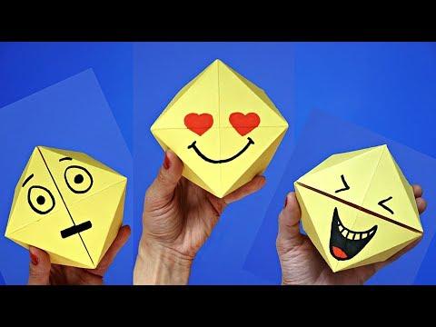 DIY toys for kids : emoji face changer | Easy origami games