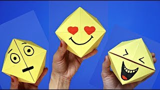 DIY toys for kids : emoji face changer | Easy origami games