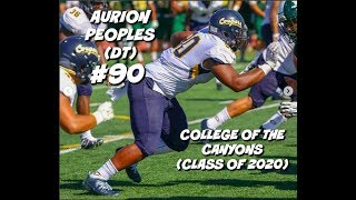 Aurion Peoples Freshman JUCO Highlights #90 || College of the Canyons (Class of 2020)