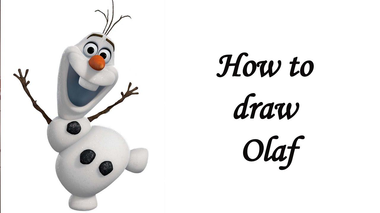 Cómo Dibujar Olaf En La Versión Disney Tsum Tsum: Dibujos Olaf Dibujos T Olaf Dibujo Y Dibujar
