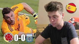 ESPAÑOL REACCIONA A COLOMBIA vs ARGENTINA