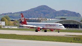 Air Berlin Niki Airbus A321-211 OE-LNZ arrival at Salzurg Airport