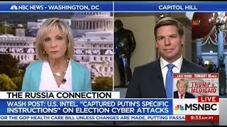 Rep. Swalwell on MSNBC discussing latest revelations on Russian interference in election