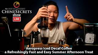 How to make the best Iced Coffee with the Aeropress (and cheap Decaf Costco Beans?)