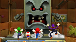 Mario Party 9 Boss Rush - Toad vs Mario vs Luigi vs Waluigi| CartoonsMee