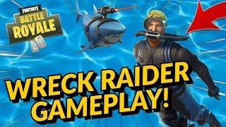 WRECK RAIDER Skin And LASER CHOMP Gameplay! A Fortnite.