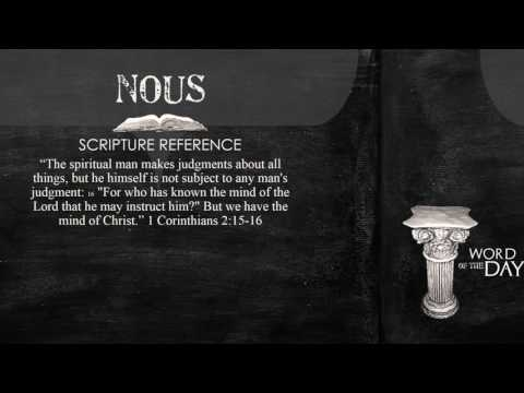 Greek Word of the Day  Nous