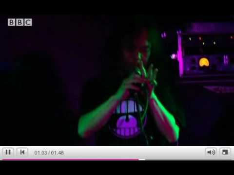 Damo Suzuki -former Can vocalist improvising at a gig in Whitechapel