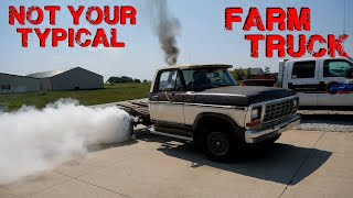 TRACTOR Powered F250 Revival!? Farm Grown 70's Diesel Conversion Runs Again!
