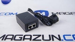 Комплектація і розпакування пасивного PoE адаптера Ubiquiti 24V UBNT POE-24