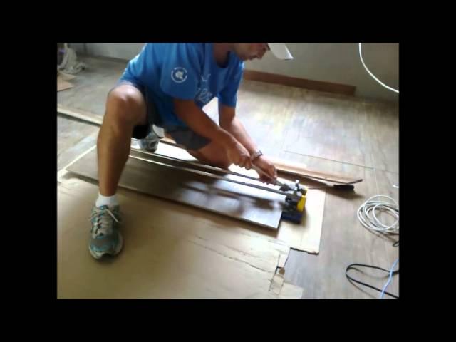 Azulejos Baño Homecenter:COMO CORTAR PORCELANATO DE 1 METRO USANDO RISCADOR DE 80 cm