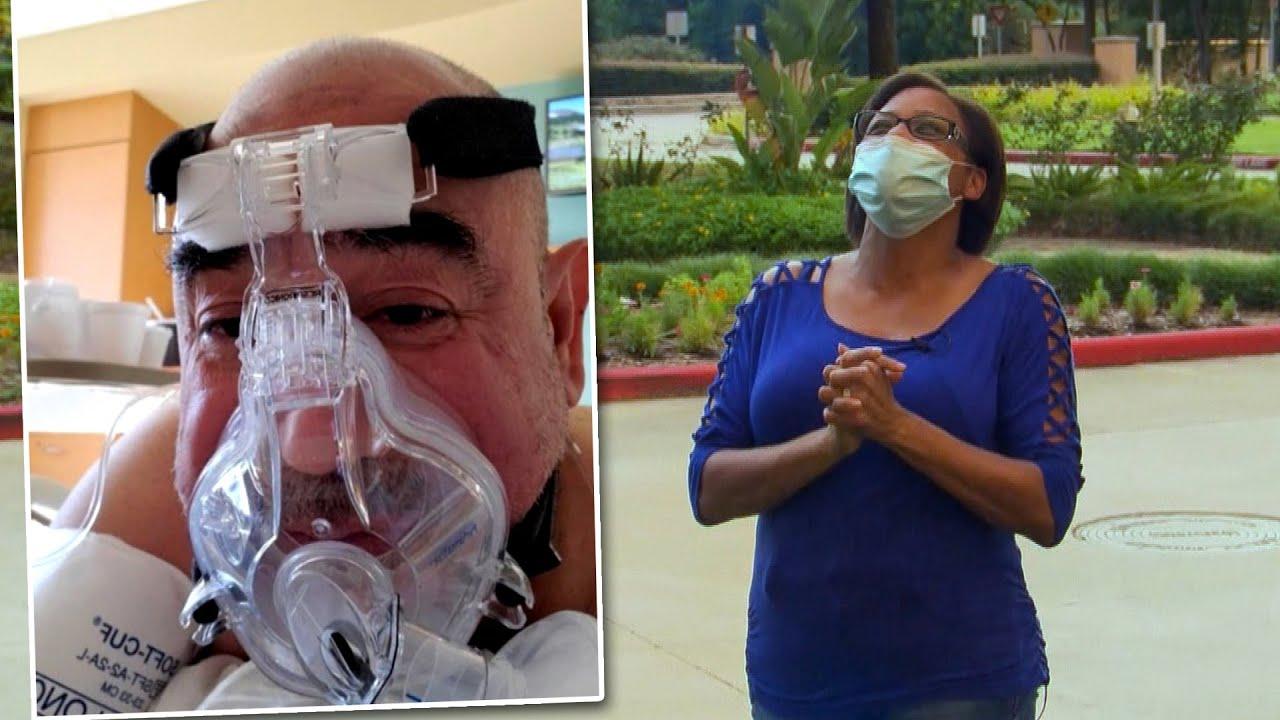 Wife Prays Daily for Husband's Health Outside Hospital