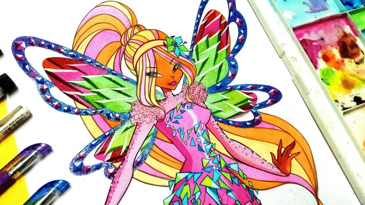 Drawing Tutorial !! Flora Tynix From Winxclub