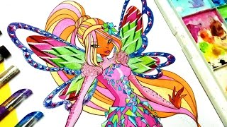 Drawing tutorial !! flora tynix from winxclub-Discovertodraw