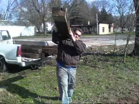 Railroad Ties Back Yard Landscaping Youtube