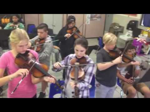 Discovery Charter School Middle School music class
