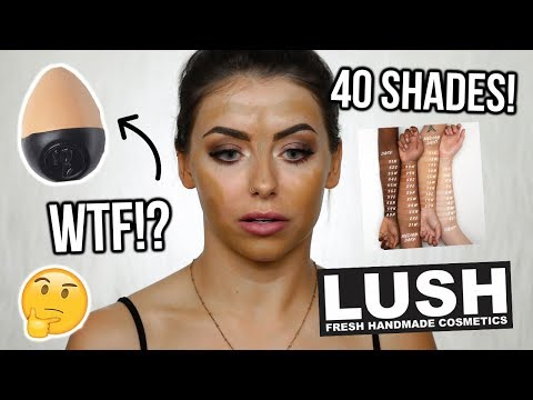 TESTING THE NEW LUSH SLAP STICK FOUNDATION ! REVIEW + WEAR TEST  FIRST IMPRESSIONS