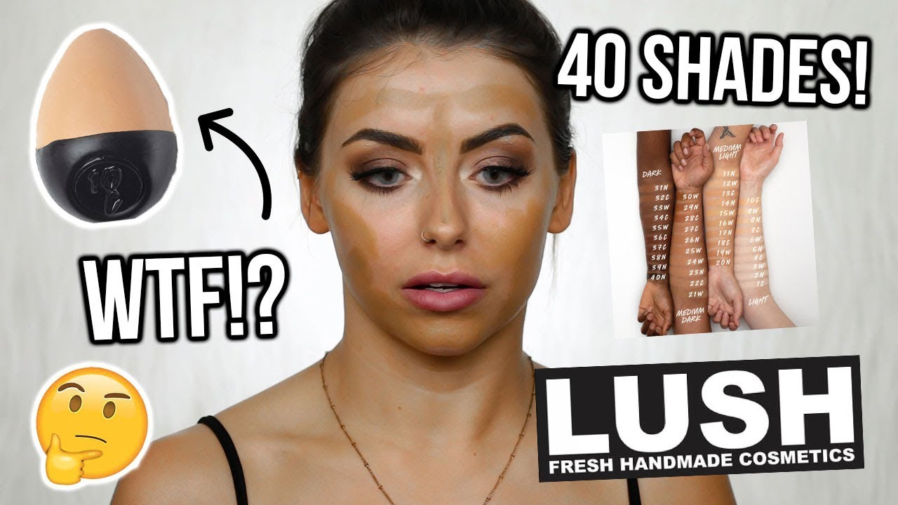 TESTING THE NEW LUSH SLAP STICK FOUNDATION ! REVIEW + WEAR TEST / FIRST IMPRESSIONS - YouTube