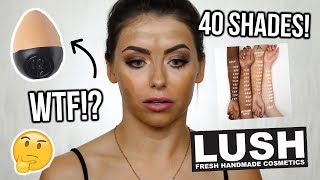 TESTING THE NEW LUSH SLAP STICK FOUNDATION ! REVIEW + WEAR TEST / FIRST IMPRESSIONS