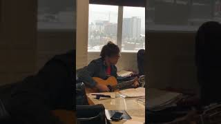 Ryan Adams: Instagram Live - solo acoustic song, Walk in the Dark, Capitol Records office 17.1.19