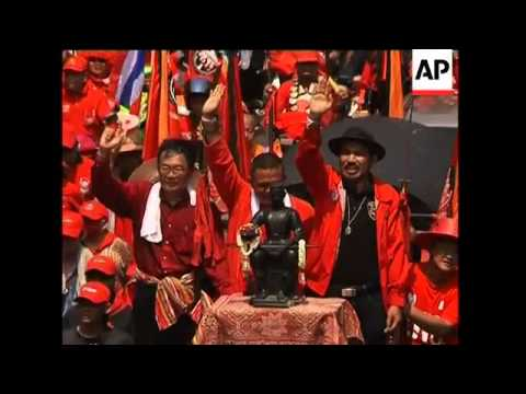 Thousands of Red Shirts hold protest rally in central Bangkok
