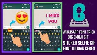 Bubble Keyboard App | How To Use Bubble Keyboard Change Font ?? | WhatsApp chat screenshot 4