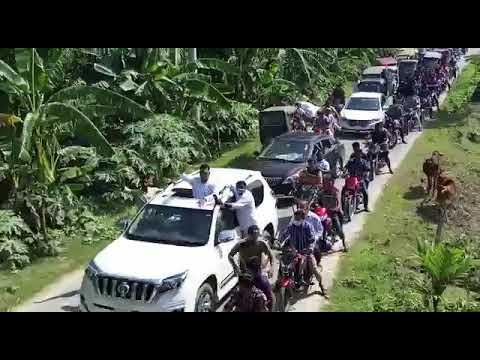 কুমিল্লায় শত শত গাড়ি নিয়ে ইউনিয়ন চেয়ারম্যান পদপ্রার্থীর শোভাযাত্রা