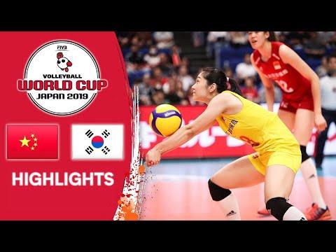 CHINA vs. KOREA - Highlights | Women's Volleyball World Cup 2019