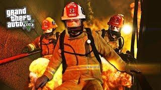 GTA 5 Игра за Пожарного #1 - ОЧЕНЬ ГОРЯЧО!! (ГТА 5 МОДЫ)