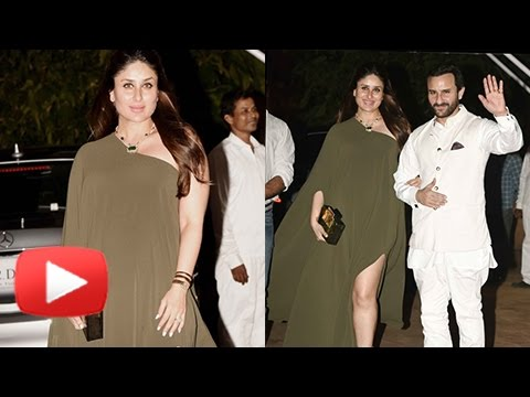 Pregnant Kareena Kapoor Poses In Thigh High Slit Dress | Rima Jain's Birthday Party