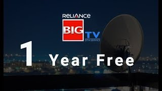 Reliance Big TV Offer 2018   1-Year-Free Divigal TV   DTH Booking - #JioDTH